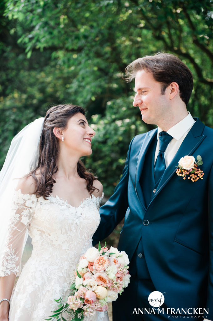 Bruid Bruidegom Bruidspaar Trouwen in Utrecht Trouwen in Gelderland Trouwfotograaf Lage Vuursche